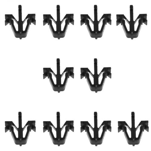 OxGord Grill Clip Retainers for Select Toyota Vehicles - (Pack of 10) Replaces 90467-12040 Interior Trim Panel Grille Clips - Black