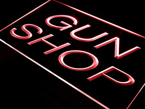 Amazoncom Advpro Gun Shop Display Store Led Neon Sign Red 16 X 12