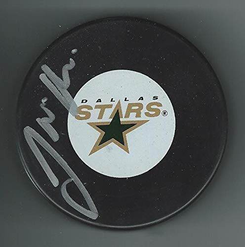 Jamie Jamieson OLEKSIAK Signed DALLAS STARS Puck Pittsburgh Penguins - Autographed NHL Pucks Sports Memorabilia