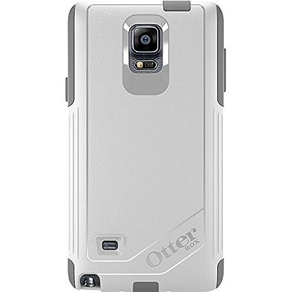 OtterBox Samsung Galaxy Note 4 Case Commuter Series - Retail Packaging -  Glacier (White/Gunmetal Grey)