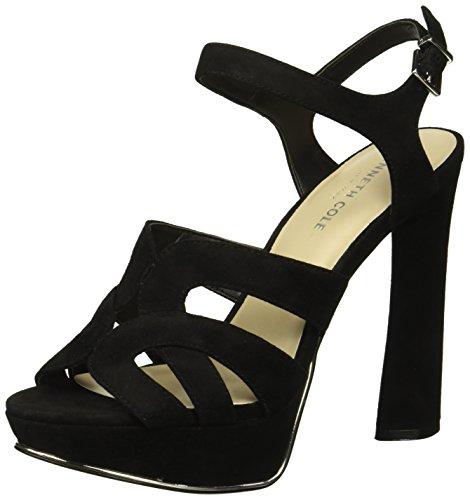 Cole Suede Sandals Kenneth (Kenneth Cole New York Women's Nealie Platform Heeled Sandal, Black Suede, 8 M US)