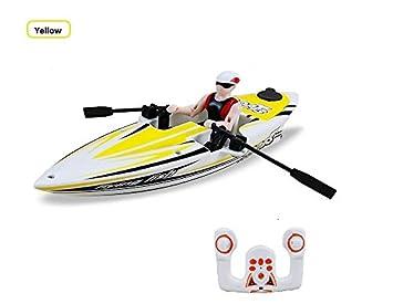 WayIn® 2311 de 2,4 GHz de control remoto RC Flying Fish Kayak, Barco de control remoto para las vacaciones de verano (Amarillo): Amazon.es: Juguetes y ...