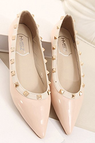Toe Loafer Slip Comfy Flat Pink Shoes Pointy Women's On Aisun ExZXAYqY