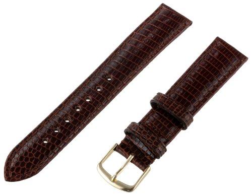Hadley-Roma Men's MSM715RB-180 18-mm Brown Genuine Java Lizard Leather Watch Strap Brown Genuine Lizard Strap
