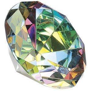 80mm Original Crystal Diamond Jewel Paperweight (Aurora Borealis) Tripact Inc