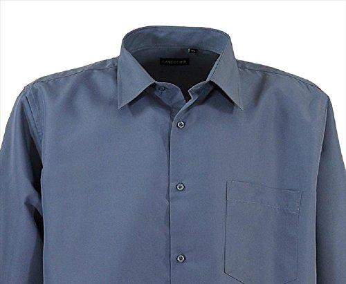 HLA15-B1 Übergröße! Lavecchia Herrenhemd lg. Arm 3-7XL Grau