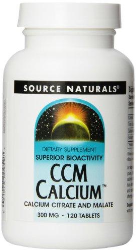 Source Naturals CCM calcium citrate de calcium / Malate 300 mg, 120 comprimés (pack de 3)