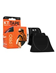 KT TAPE PRO Synthetic Elastic Kinesiology 20 Pre-Cut 10-Inch ...