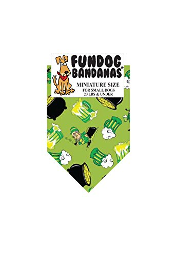 St Patty's Party Dog Bandana (Miniature for Small Dogs Less than 20 (Patty Miniature)