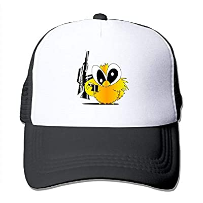 Oiir Ooiip Cute Gun Chick Unisex Adjustable Mesh Baseball Cap Dad Trucker Hats