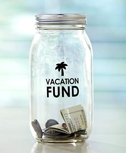 Giftcraft Ltd Glass Vacation Fund Savings Jars - - Vacation Jar Fund