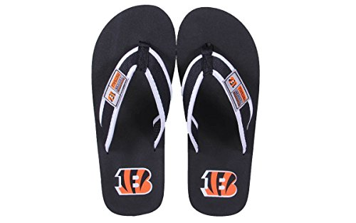 Forever Collectibles Officially Licensed NFL Contour Flip Flops - Happy Feet and Comfy Feet Cincinnati Bengals gXbR3t7KJ0