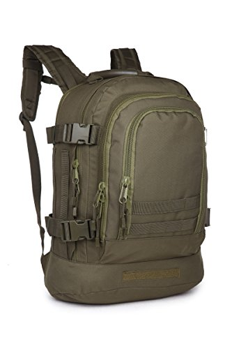 - Eunichara Outdoor Camping Hiking Expandable Military Style Backpack with Hydration & Laptop Compartment OD Green