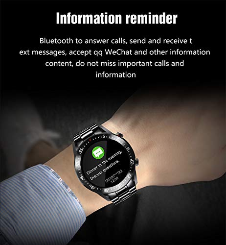 LIGE Men Smart Watch Monitor Heart Rate Blood Pressure Monitor New Steel Band Smart Activity Tracker Watch Calorie Counter for iOS Android Phone