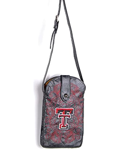 NCAA Texas Tech Red Raiders Women's Cross Body Purse, Black, One Size (University Of Texas Boots)