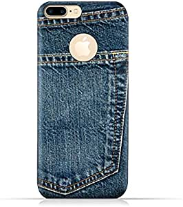 AMC Logo View Design Apple iPhone 7 Plus TPU Silicone Protective Case with Jeans Pocket Logo View Design