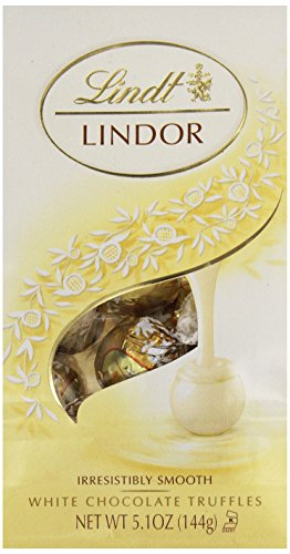 Lindt Lindor White Chocolate Truffle, 5.1 Ounce