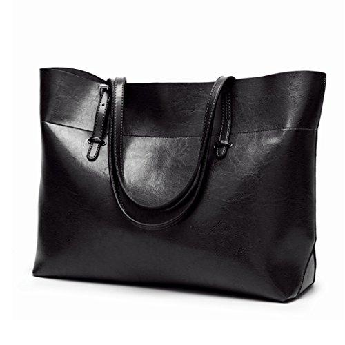 Sac en brun Noir simple pour cuir en couleur Xasclnis bandoulière femme p4dgqw4A1