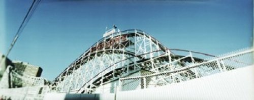 Posterazzi Low Angle View of a Rollercoaster Cyclone Coney Island Brooklyn City New York State USA Poster Print (30 x 12) Varies