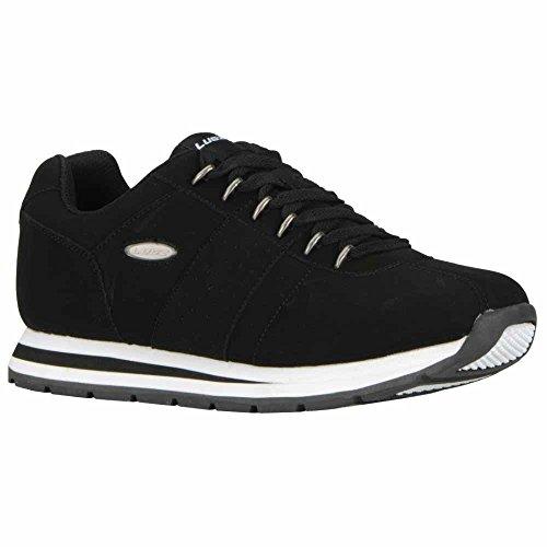 Mens Da Uomo Run Sneaker Moda Nero / Bianco