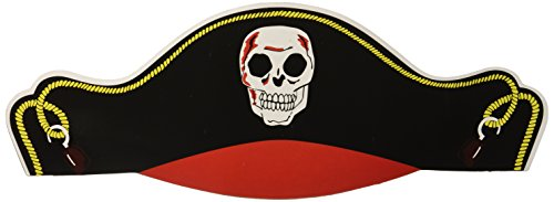 12 - Cardboard Bandana Pirate Hats - New ()