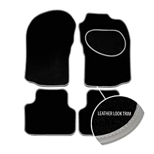 Alfombrillas para Suzuki Grand Vitara (LWB) (2005-Present), Black Carpet - Grey Trim