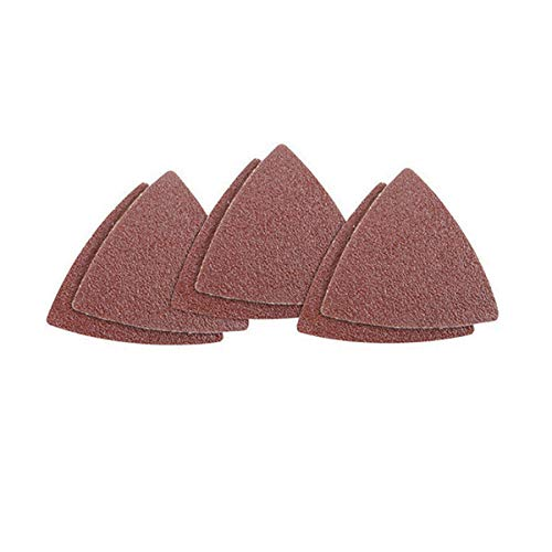 Assorted 40 60 80 100 120 240 Grits Fit 3-1//8 Inch Oscillating Multi Tool Sanding Pad XZANTE 60pcs Triangular Hook and Loop Triangle-Sandpaper