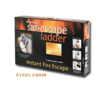 Saf-Escape - 2 Story 15 foot Portable Fire Escape Ladder 10'' Thick Wall - Tangle Free Steel Chain - model # 1015 by Saf-Escape (Image #2)