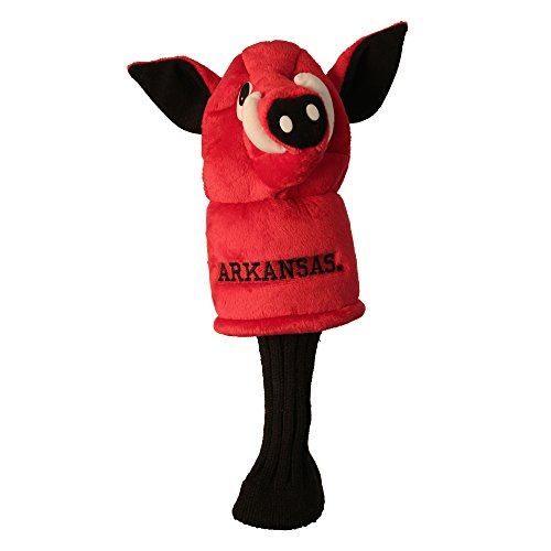 Arkansas Razorbacks Headcover - Team Golf NCAA Arkansas Razorbacks Mascot Golf Club Headcover, Fits most Oversized Drivers, Extra Long Sock for Shaft Protection, Officially Licensed Product