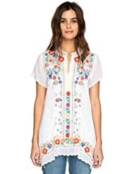 Johnny Was Collection White Mikones Tunic
