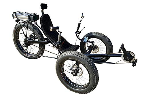 Fat Tire Electric Recumbent Tricycle, Recumbent Trike