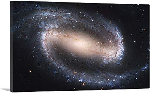 "ARTCANVAS NASA Hubble Telescope Sees a Spiral Galaxy Canvas Art Print - 40"" x 26"" (0.75"" Deep)"