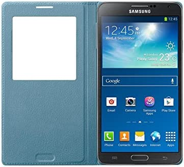 Samsung S-View - Funda para móvil Galaxy Note 3 (con pantalla frontal), azul