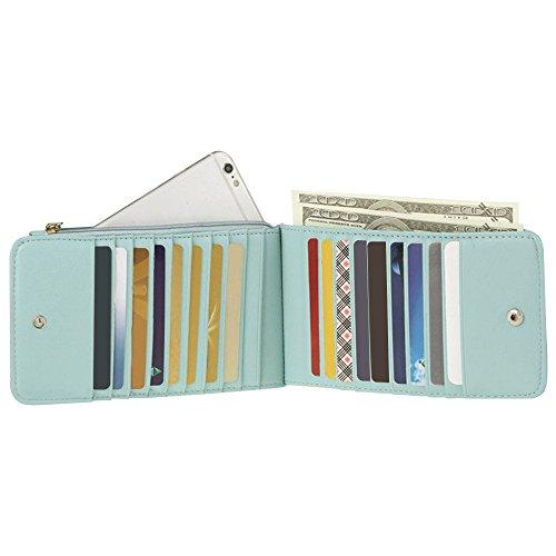 Credit Green Leather Blue Bag Card Womens Clutch Purse Wallet Stylish Cckuu Handbag Holder qP6xCEqw