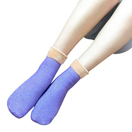 Tootu Womens Fashion Sock Casual Soft Ankle-High Warmer Socks (Purple)