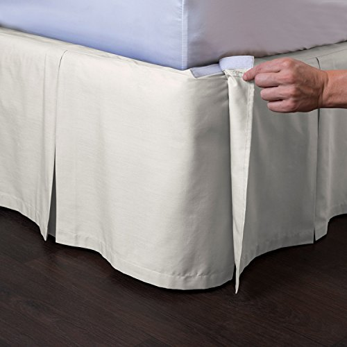 Ashton Detachable Bedskirt (Full Size, Cream, 18
