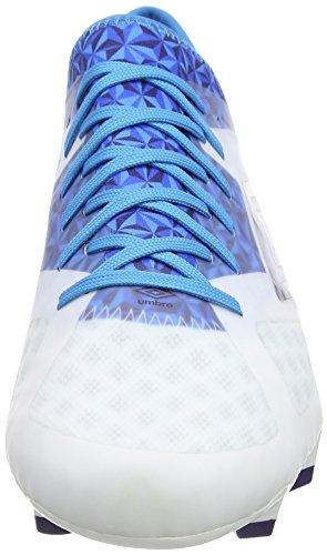 Umbro Velocita Iii Pro Hg, Botas de Fútbol para Hombre Blanco (Epn White/Astral Aura/Diva Blue)