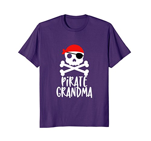 d5e218669 Mens Pirate Grandma T-Shirt Skull and Crossbones Tshirt Tee Shirt 2XL Purple