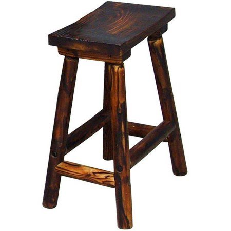 country charlog saddle stool with comfortable foot rest saddle style backless - Saddle Stools