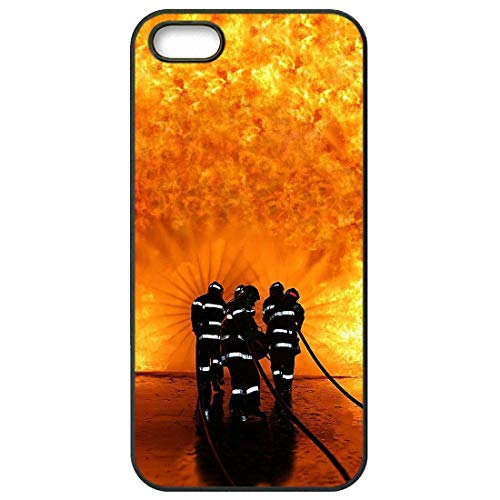 for Apple iPhone 4 Case for iPhone 4S Housing Firefighter Heroes Fireman Fleece Panel Art
