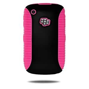 Amzer TPU-PolyCarbonate Hybrid Case for BlackBerry Curve 8520, Curve 8530, and Curve 3G 9300 - 1 Pack-Black/Pink