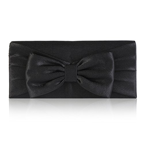 Damara Womens Pretty Bowknot Detail Evening Bridal (Womens Bow Clutch)