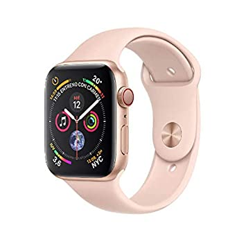 Apple Watch Series 4 (GPS + Cellular) con caja de 44 mm de aluminio en oro y correa deportiva rosa arena: Amazon.es
