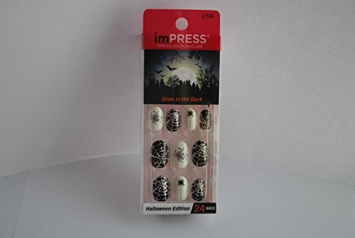 Impress Press-on Manicure Glow in the Dark Halloween Edition Nails - So Bootiful
