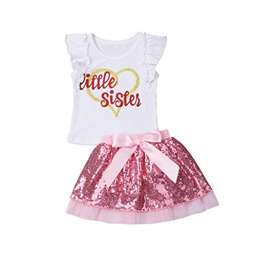New Newborn Kids Baby Girls Matching Clothes Set