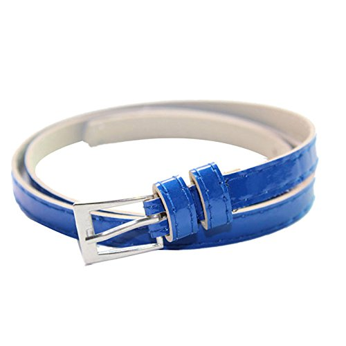 Mchoice Hot Beautiful Woman Multicolor Small Candy Color Thin Leather Belt Ms (35 Mm Bridle)