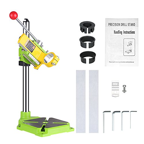 KKmoon High Precision Electric Power Drill Press Stand Table Rotary Tool Workstation Drill Workbench Repair Tools Clamp Work Station with 0-90 Degree Rotating Fixed Frame for Drilling Collet Table