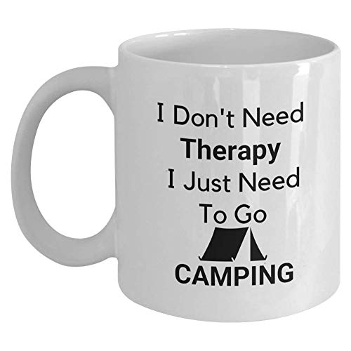 Happy Camper Mug Cup for Coffee Tea Funny Novelty For Camping Lover Traveler Backpacker Travel Addict Men Women Colleague Coworker Best Friend Valentine Birthday Anniversary Present Mug