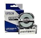 LABELWORKS 218VTBWPX Tape Cartridge - Black on
