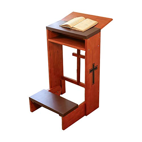 Prayer Bench Stool Table Chair Padded Kneeler Shelf Folding Wooden Church